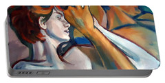 Portable Battery Charger featuring the painting Empathy by Helena Wierzbicki