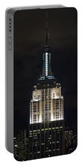 Empire State Building At Night Portable Battery Charger