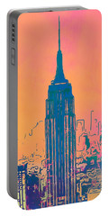 Empire State Building Pop Art Portable Battery Charger