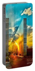 Empty Skies Sunset Portable Battery Charger by Nick Zelinsky