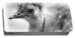 Emu - Black And White Portable Battery Charger by Carol Groenen