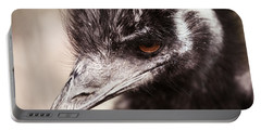 Emu Closeup Portable Battery Charger by Karol Livote