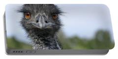 Emu Gaze Portable Battery Charger by Belinda Greb