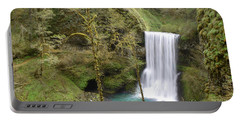 Enchanted Wilderness Waterfall Portable Battery Charger by Andrea Hazel Ihlefeld