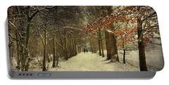 Enchanting Dutch Winter Landscape Portable Battery Charger