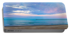 Portable Battery Charger featuring the photograph End Of The Blue Hour by Steven Santamour