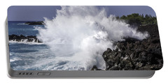 End Of The World Explosion Portable Battery Charger by Denise Bird