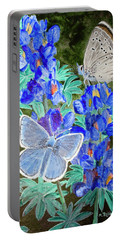 Endangered Mission Blue Butterfly Portable Battery Charger