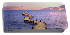 Endless Dock At Sunset Portable Battery Charger