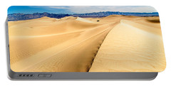 Endless Dunes - Panoramic View Of Sand Dunes In Death Valley National Park Portable Battery Charger