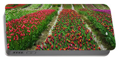 Endless Waves Of Tulips Portable Battery Charger by Eti Reid