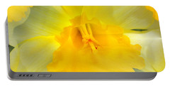 Portable Battery Charger featuring the photograph Endless Yellow Daffodil by Judy Palkimas