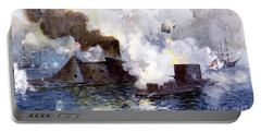 Engagement Between The Confederate Ironclad Merrimac Also Called Virginia And Monitor Portable Battery Charger