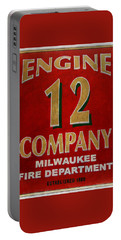 Engine 12 Portable Battery Charger by Susan  McMenamin