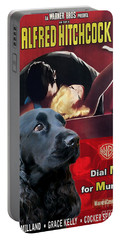 English Cocker Spaniel Art - Dial M For Murder Portable Battery Charger