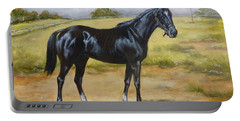 English Horse - Black Huzar Portable Battery Charger