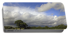 English Oak Under Stormy Skies Portable Battery Charger