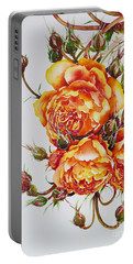 English Roses Portable Battery Charger