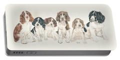 English Springer Spaniel Puppies Portable Battery Charger