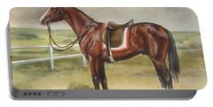 English Stallion Dark Bay Portable Battery Charger