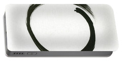 Enso #1 - Zen Circle Minimalistic Black And White Portable Battery Charger