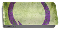 Enso No. 108 Purple On Green Portable Battery Charger