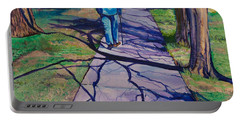 Portable Battery Charger featuring the painting Entanglement On Highway 98' by Ecinja Art Works