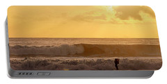 Portable Battery Charger featuring the photograph Enter The Surfer by AJ  Schibig