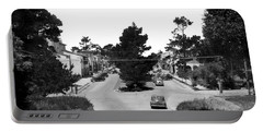 Entering Carmel By The Sea Calif. Circa 1945 Portable Battery Charger