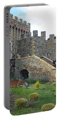 Entrance To Castello Di Amorosa In Napa Valley-ca Portable Battery Charger