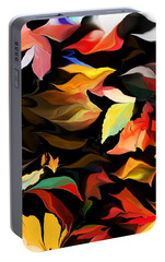 Portable Battery Charger featuring the digital art Entropic Dance Of The Salamander First Snow.  by David Lane