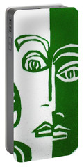 Portable Battery Charger featuring the painting Envy by Donna Tucker