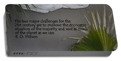 E.o. Wilson Quote Portable Battery Charger by Kathy Barney