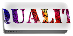 Equality For All 3 - Stone Rock'd Art By Sharon Cummings Portable Battery Charger