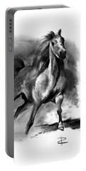 Portable Battery Charger featuring the drawing Equine II by Paul Davenport