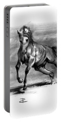 Portable Battery Charger featuring the drawing Equine IIi by Paul Davenport