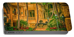 Portable Battery Charger featuring the photograph Equine Villa  by Dennis Baswell
