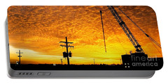Erecting A Sunset In Beaumont Texas Portable Battery Charger
