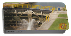 Portable Battery Charger featuring the photograph Erie Canal Lock by William Norton