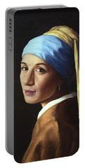 Erika With A Pearl Earring Portable Battery Charger