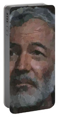 Ernest Hemingway Portrait Portable Battery Charger