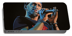 Eros Ramazzotti Painting Portable Battery Charger