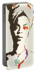 Portable Battery Charger featuring the painting Erykah Badu by Stormm Bradshaw