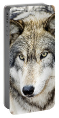 Essence Of Wolf Portable Battery Charger by Gary Slawsky