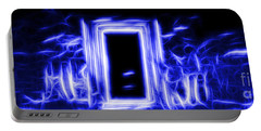 Ethereal Doorways Blue Portable Battery Charger
