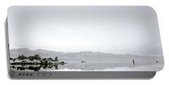 Ethereal Mono Lake Portable Battery Charger by Shaun Higson