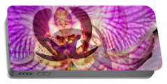 Ethereal Orchid By Sharon Cummings Portable Battery Charger by Sharon Cummings