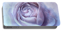 Ethereal Rose Portable Battery Charger by Sandra Phryce-Jones