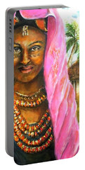 Ethiopia Bride Portable Battery Charger by Bernadette Krupa
