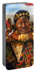 Ethiopia Dancing  Portable Battery Charger by Bernadette Krupa